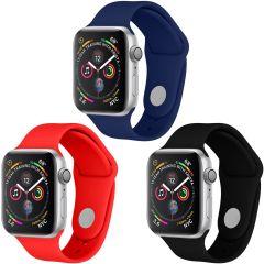 iMoshion Siliconen bandje Multipack Apple Watch 1 t/m 6 / SE -38/40mm