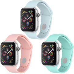 iMoshion Siliconen bandje Multipack Apple Watch 1 t/m 6 / SE -42/44mm