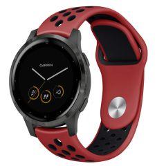 iMoshion Siliconen sport bandje Garmin Vivoactive 4L - Rood / Zwart
