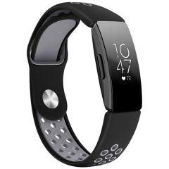 iMoshion Siliconen sport bandje Fitbit Inspire - Zwart / Grijs