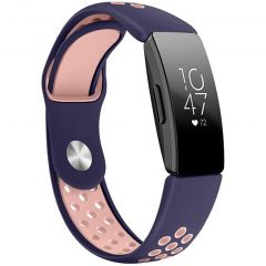iMoshion Siliconen sport bandje Fitbit Inspire - Blauw / Roze