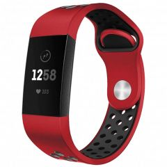 iMoshion Siliconen sport bandje Fitbit Charge 3 / 4 - Rood