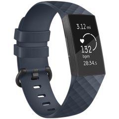 iMoshion Siliconen bandje Fitbit Charge 3 / 4 - Donkerblauw