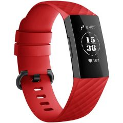 iMoshion Siliconen bandje Fitbit Charge 3 / 4 - Rood