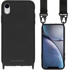 iMoshion Color Backcover met koord - Nylon Strap iPhone Xr - Zwart