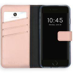Selencia Echt Lederen Booktype iPhone SE (2020) / 8 / 7 / 6(s) - Roze