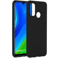 Accezz Liquid Silicone Backcover Huawei P Smart (2020) - Zwart