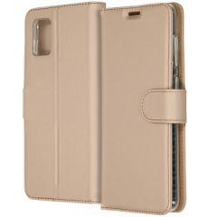 Accezz Wallet Softcase Booktype Samsung Galaxy A31 - Goud
