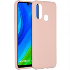 Accezz Liquid Silicone Backcover Huawei P Smart (2020) - Pink Sand