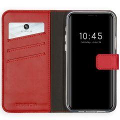 Selencia Echt Lederen Booktype iPhone 12 (Pro) - Rood