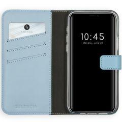 Selencia Echt Lederen Booktype iPhone 12 Pro Max - Lichtblauw