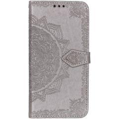 Mandala Booktype Samsung Galaxy A50 / A30s - Grijs