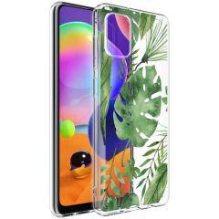 iMoshion Design hoesje Samsung Galaxy A31 - Bladeren - Groen