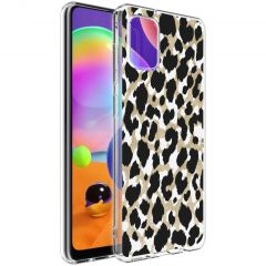 iMoshion Design hoesje Samsung Galaxy A31 - Luipaard - Goud / Zwart