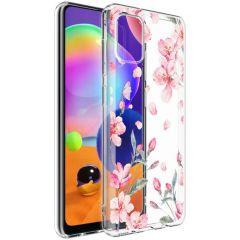 iMoshion Design hoesje Samsung Galaxy A31 - Bloem - Roze
