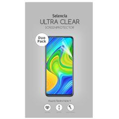 Selencia Duo Pack Ultra Clear Screenprotector Xiaomi Redmi Note 9