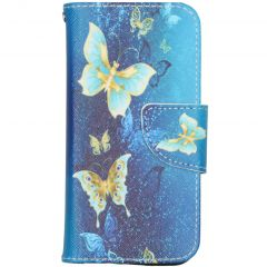 Design Softcase Booktype iPhone 12 Mini - Vlinders