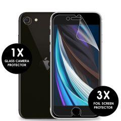 iMoshion Screenprotector Folie + Camera Protector iPhone SE(2020)/8/7