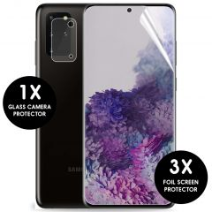 iMoshion Screenprotector 3 Pack + Camera Protector Galaxy S20 Plus