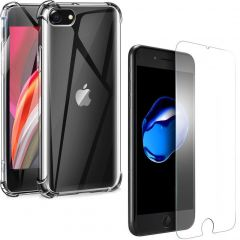 iMoshion Anti-Shock Backcover + Glass Screenprotector iPhone 8 / 7