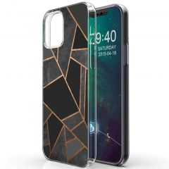 iMoshion Design hoesje iPhone 12 Mini - Grafisch Koper - Zwart
