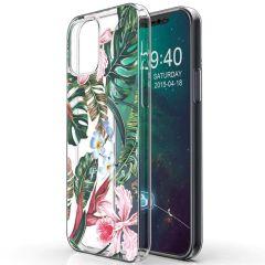 iMoshion Design hoesje iPhone 12 Mini - Jungle - Groen / Roze