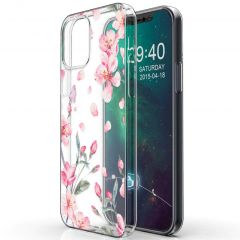 iMoshion Design hoesje iPhone 12 (Pro) - Bloem - Roze