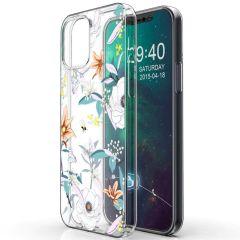 iMoshion Design hoesje iPhone 12 (Pro) - Bloem - Wit