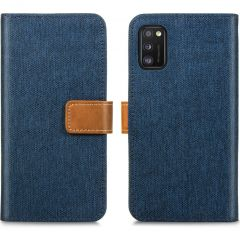 iMoshion Luxe Canvas Booktype Samsung Galaxy A41 - Donkerblauw