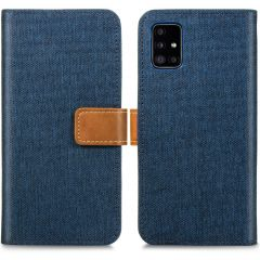 iMoshion Luxe Canvas Booktype Samsung Galaxy A51 - Donkerblauw