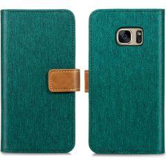 iMoshion Luxe Canvas Booktype Samsung Galaxy S7 - Groen