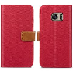 iMoshion Luxe Canvas Booktype Samsung Galaxy S7 - Rood