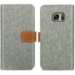 iMoshion Luxe Canvas Booktype Samsung Galaxy S7 - Grijs