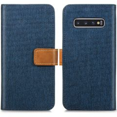 iMoshion Luxe Canvas Booktype Samsung Galaxy S10 - Donkerblauw