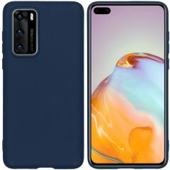 iMoshion Color Backcover Huawei P40 - Donkerblauw