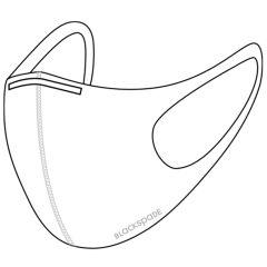 Blackspade Uniseks wasbaar mondkapje volwassenen - Herbruikbaar - Wit