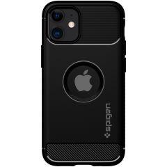 Spigen Rugged Armor Backcover iPhone 12 Mini - Zwart