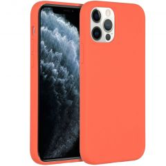 Accezz Liquid Silicone Backcover iPhone 12 (Pro) - Nectarine