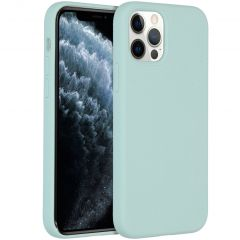 Accezz Liquid Silicone Backcover iPhone 12 (Pro) - Sky Blue