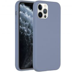 Accezz Liquid Silicone Backcover iPhone 12 (Pro) - Lavender Gray