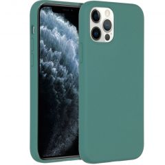 Accezz Liquid Silicone Backcover iPhone 12 (Pro) - Donkergroen