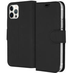 Accezz Wallet Softcase Booktype iPhone 12 (Pro) - Zwart