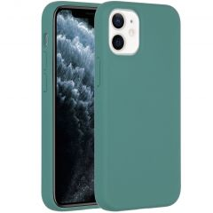 Accezz Liquid Silicone Backcover iPhone 12 Mini - Donkergroen