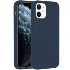 Accezz Liquid Silicone Backcover iPhone 12 Mini - Donkerblauw