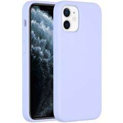 Accezz Liquid Silicone Backcover iPhone 12 Mini - Paars