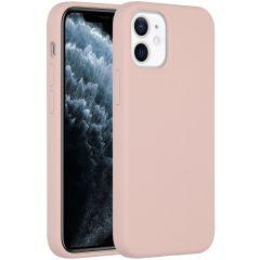 Accezz Liquid Silicone Backcover iPhone 12 Mini - Roze