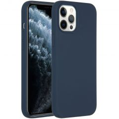 Accezz Liquid Silicone Backcover iPhone 12 Pro Max - Donkerblauw