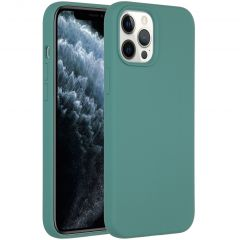 Accezz Liquid Silicone Backcover iPhone 12 Pro Max - Donkergroen