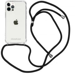 iMoshion Backcover met koord iPhone 12 (Pro) - Zwart