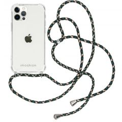 iMoshion Backcover met koord iPhone 12 (Pro) - Groen
